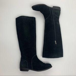 UGG Gracen Black Suede Tall Knee Riding Boot Sz 9